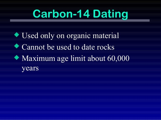 Radiocarbon dating is not useful for most fossils