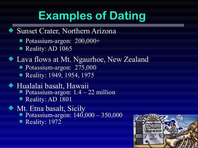 Potassium-argon dating methods