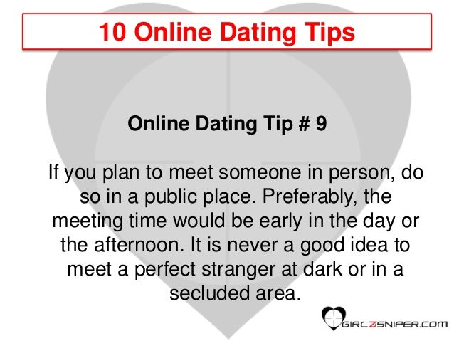online dating tips guardian