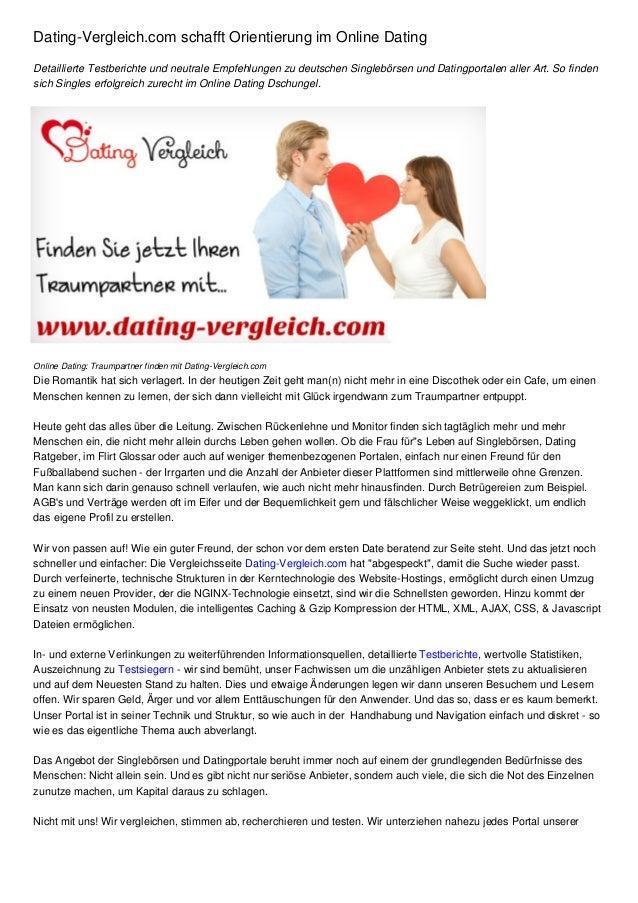 Online dating vergleich