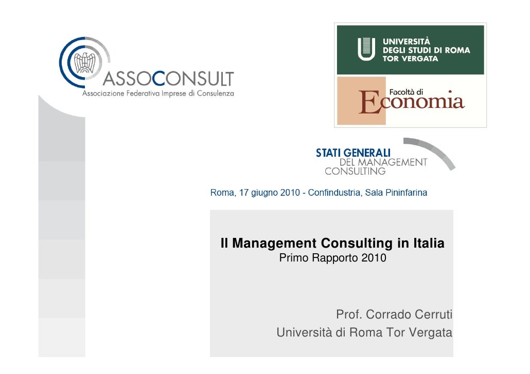 Dati Osservatorio Management Consulting In Italia