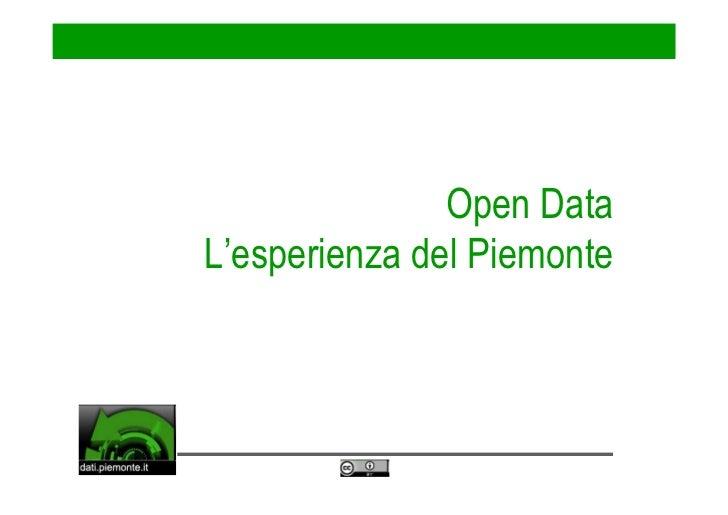 Open Data: l'esperienza del Piemonte