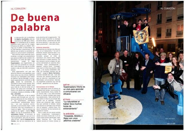 Toastmasters Club Vitoria-Gasteiz. Dato económico (april 2014)
