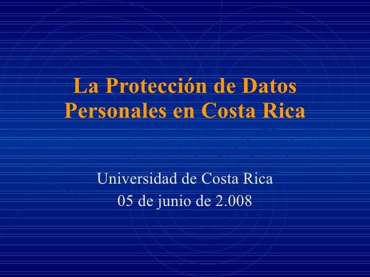 Protección de datos en Costa rica
