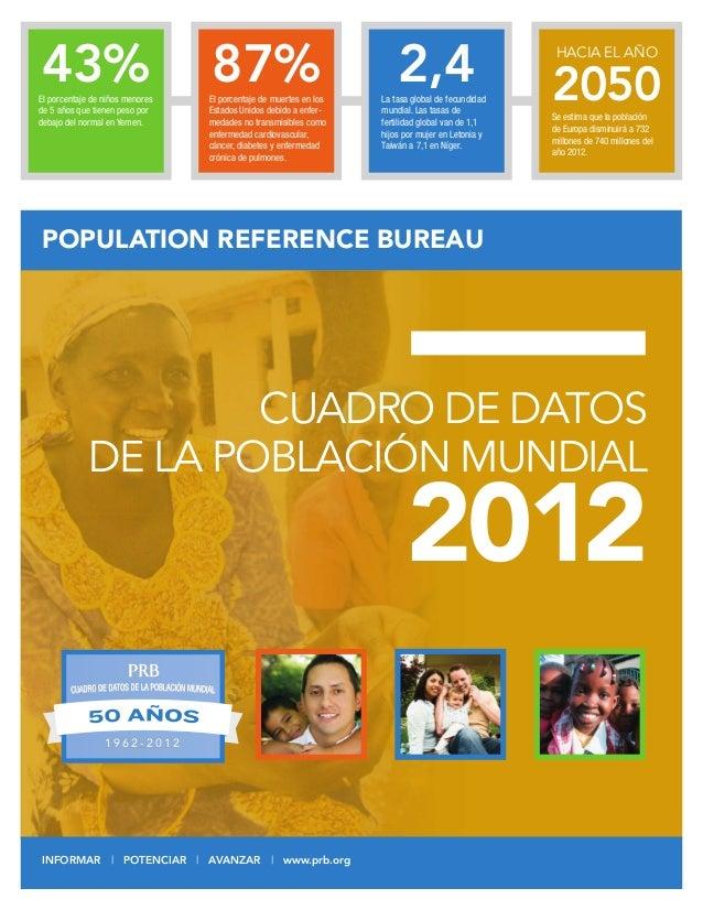 Datos de la poblaci n mundial2012 2012 population data sheet eng - Population reference bureau ...