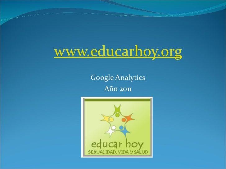 www.educarhoy.org Google Analytics Año 2011