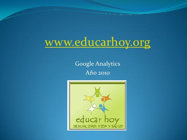 www.educarhoy.org    Google Analytics       Año 2010