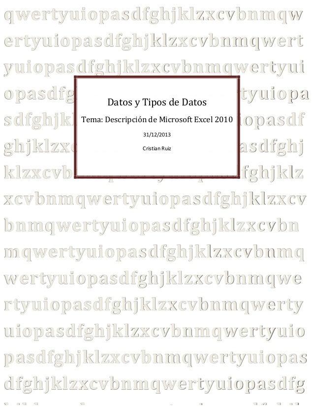 Datos y tipos de datos