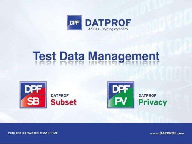 Datprof privacy & subset 2.0webslideshare
