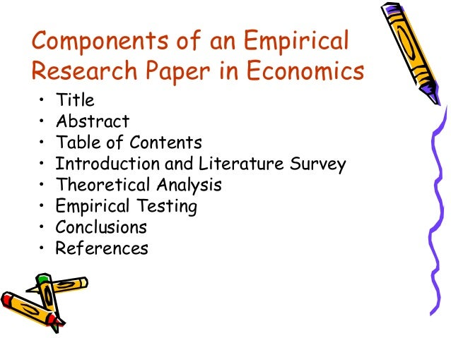 empirical research papers The mission of journal of operations management (jom) is to publish original, empirical operations management research that demonstrates both.