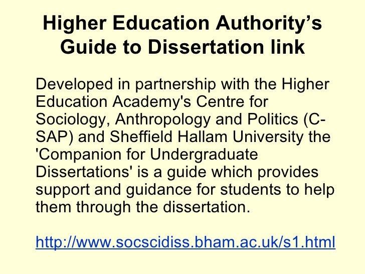 Doing Your Undergraduate Social Science Dissertation