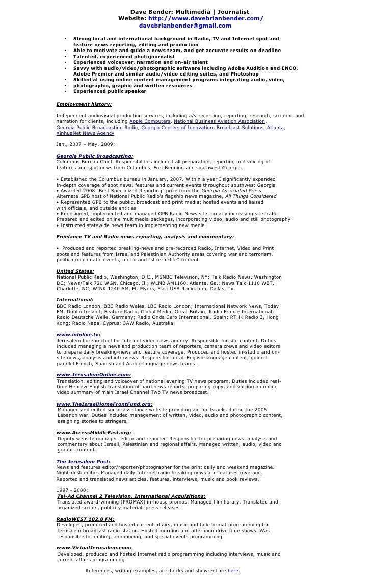 journalism cv example - Roho.4senses.co