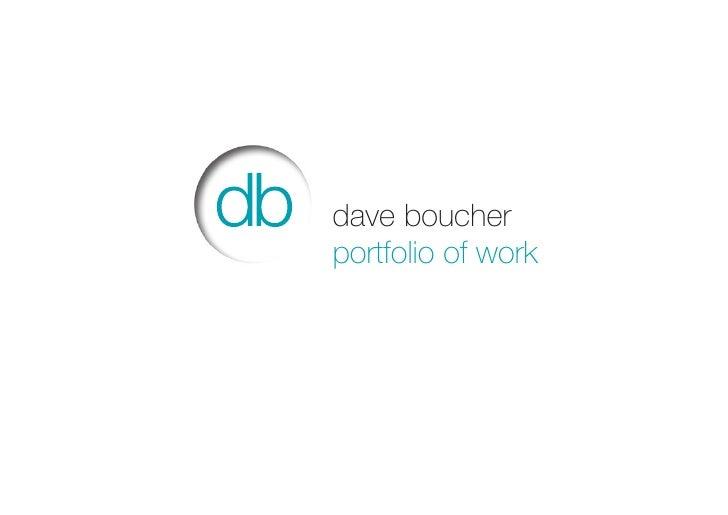 dave boucherportfolio of work