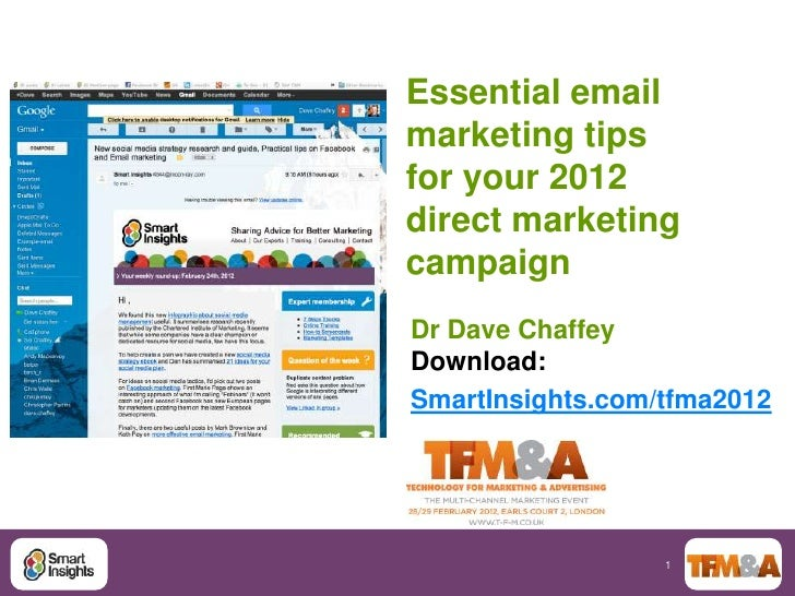 Direct Marketing Theatre; Essential email marketing tips for your 2012 direct marketing campaign