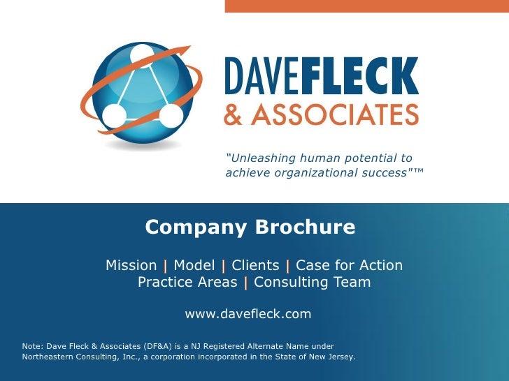 Dave Fleck and Associates; Company Brochure