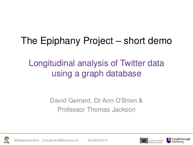 Museums and the Web - Epiphany Project Neo4J and Twitter Data Demo
