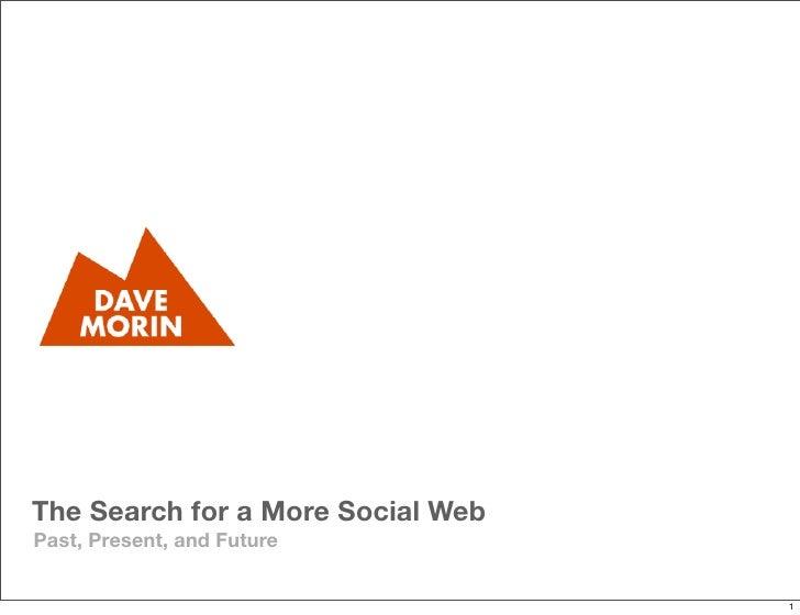 Dave Morin - Cumbre del Futuro 2010