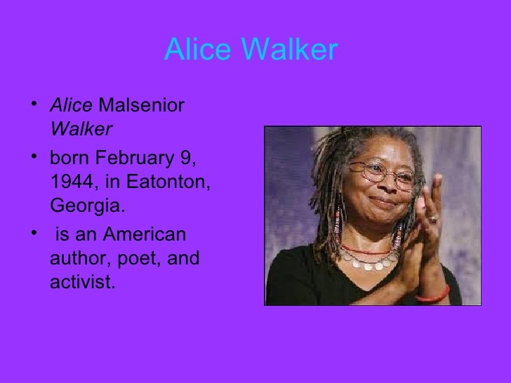 different views in everyday use by alice walker Preparing to read everyday use for your grandmama by alice walker literary skills focus: three women make them very different from each other reading skills focus: everyday use by alice walker 10 for your grandmama quilts on the line.