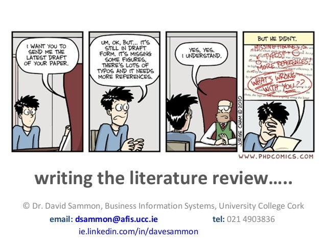 Writing the Literature Review 13th December 2013