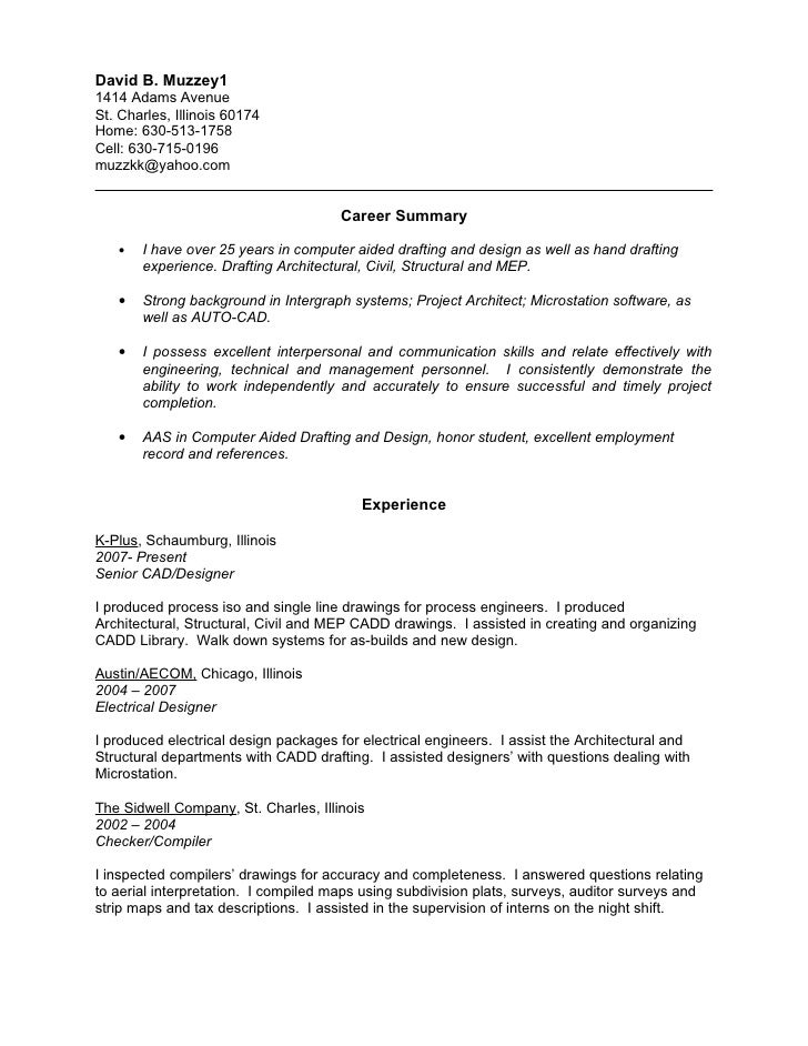 Resume Format Architects Best Best Photos Examples Work  Cad Designer Resume
