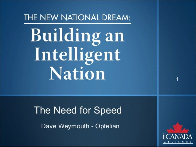 1The Need for Speed Dave Weymouth - Optelian