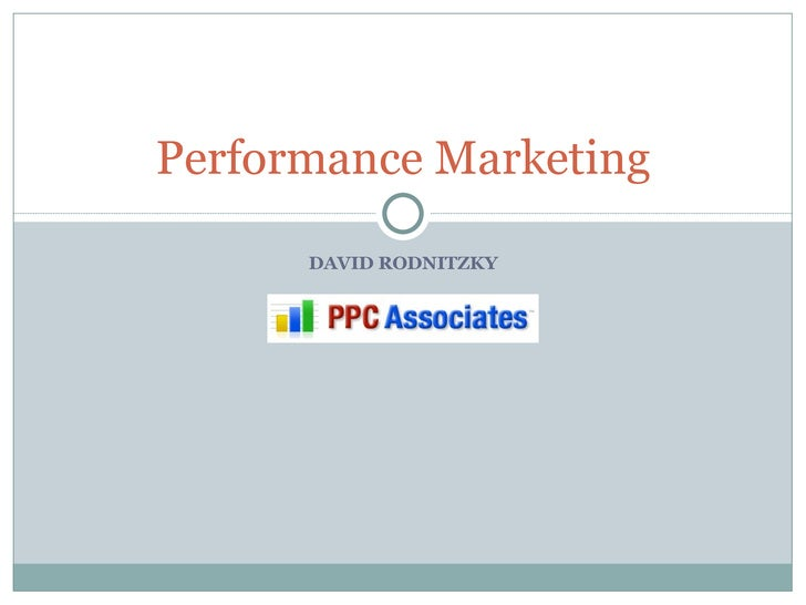 DAVID RODNITZKY Performance Marketing