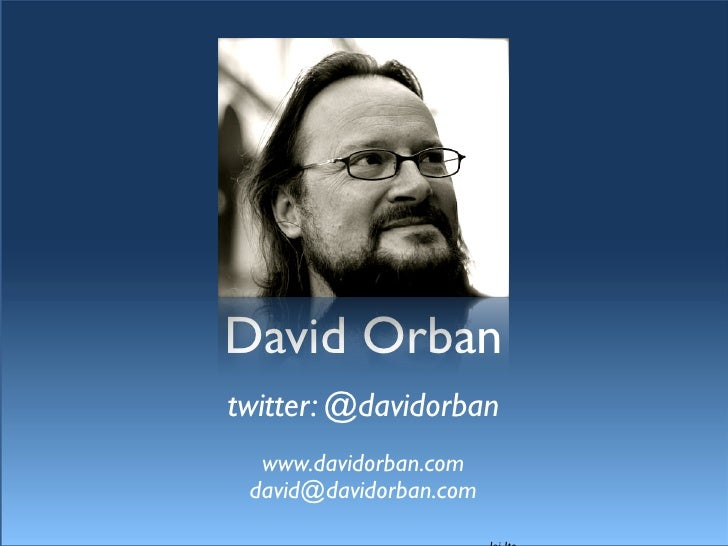 David Orban - Free to be human