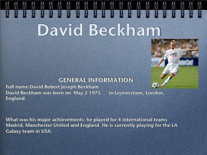 David Beckham Liam And Guy