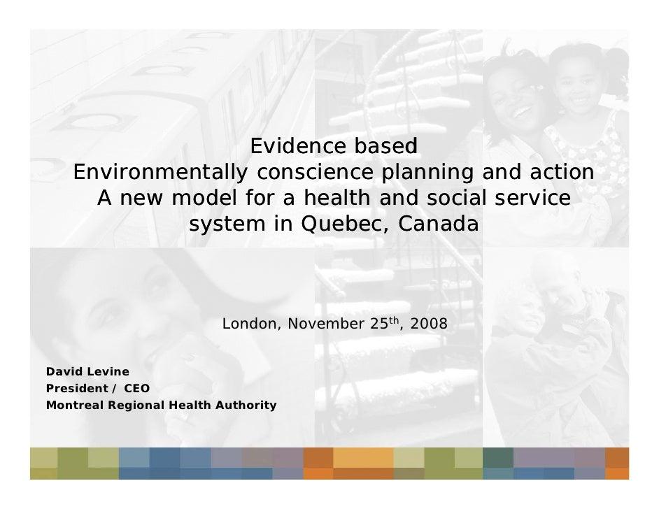David Levine: Environmentally conscience planning