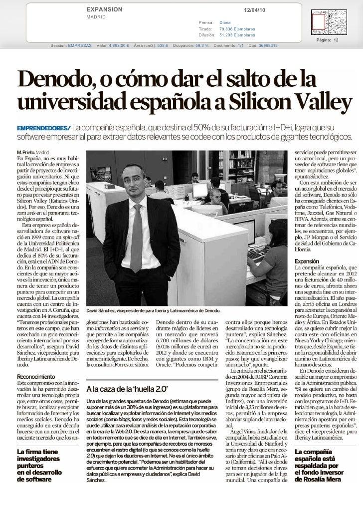Denodo in Expansion (main spanish newspaper)
