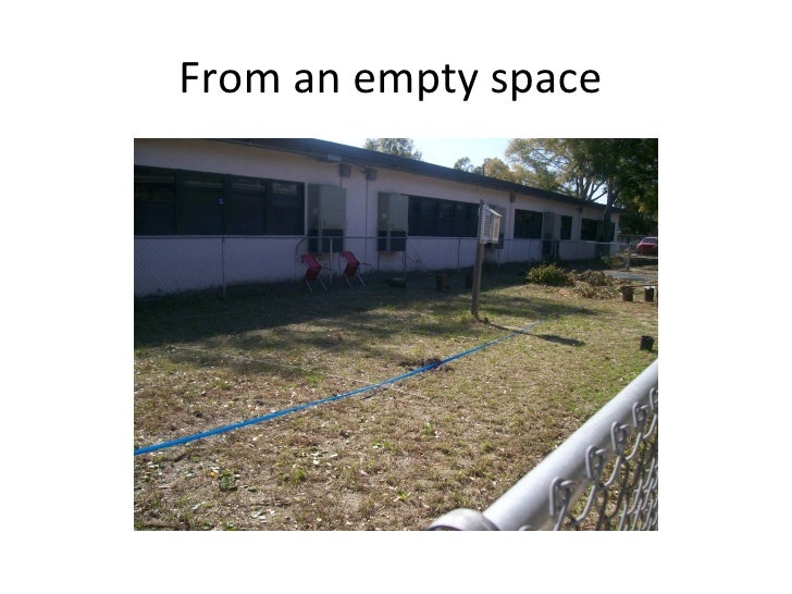 From an empty space