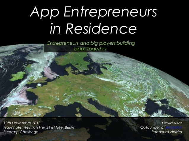 """App Entrepreneurs in Residence"" by David Arias"