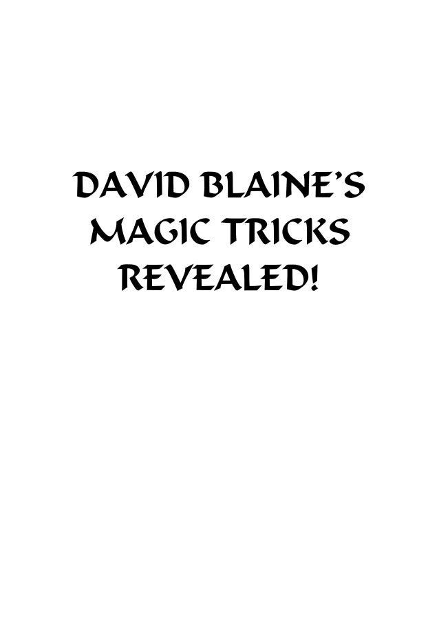 DAVID BLAINE'S MAGIC TRICKS REVEALED!