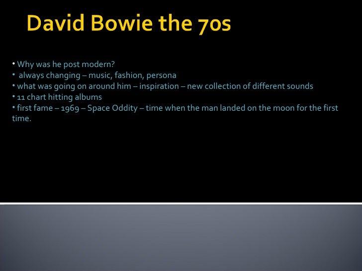 David Bowie The 70s Presentation