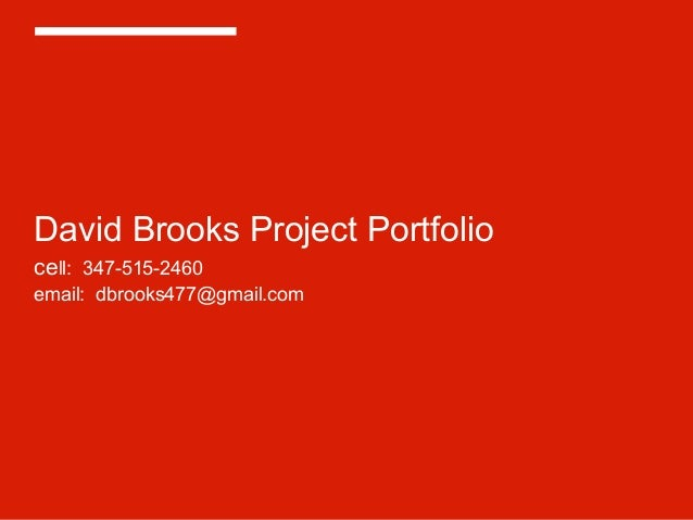 David brooks projects and clients   march 2014
