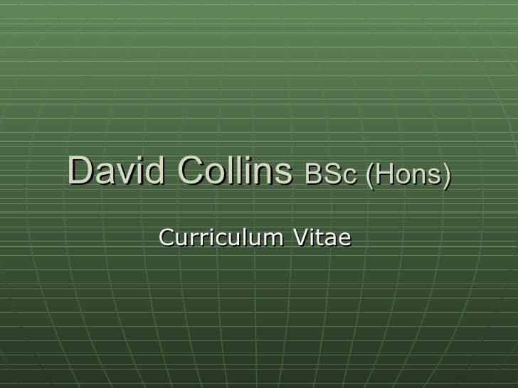 David Collins CV