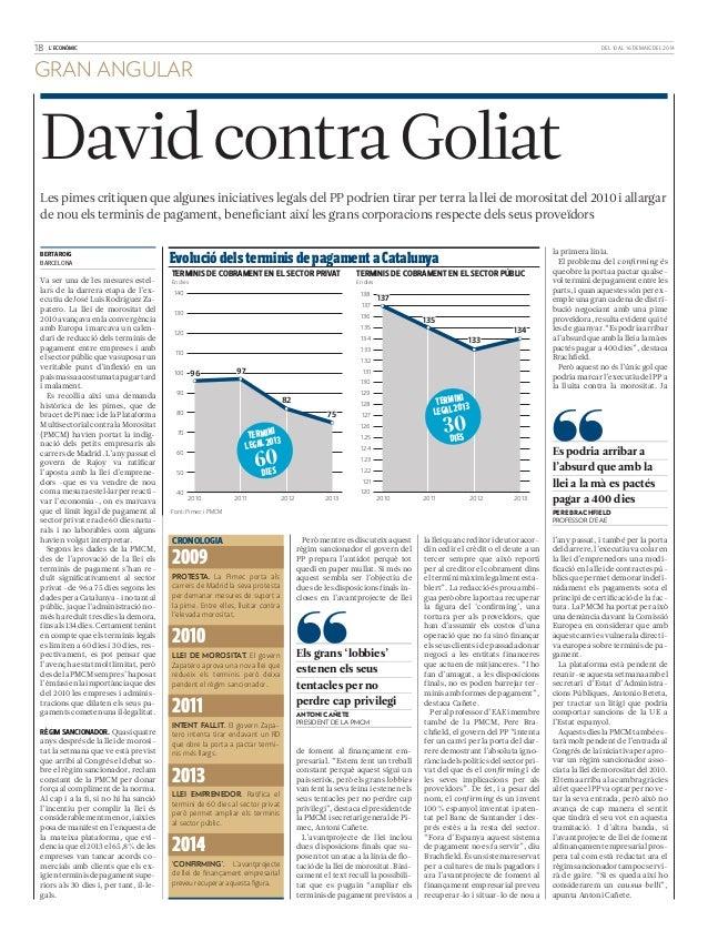 David contra Goliat, Pere Brachfield, Profesor de EAE, en L'Econòmic
