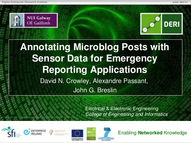 Annotating Microblog Posts with Sensor Data for Emergency Reporting Applications