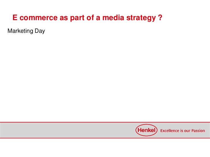 E commerce as part of a media strategy ?Marketing Day