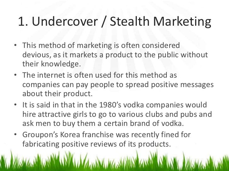 stealth marketing 3 days ago  like any home income venture, success comes not so much from what you  choose to do to make money, but whether or not you do what needs.