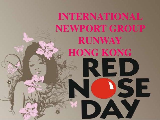 international newport group runway hong kong , DAVID GANDY LANSERAR RÖD NÄSA DAG MODE AUCTION