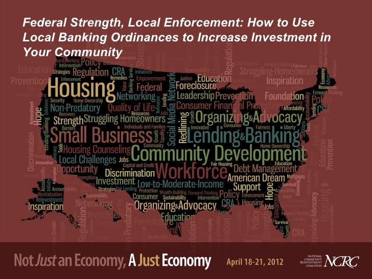 David Hanzel   Using Local Banking Ordinances