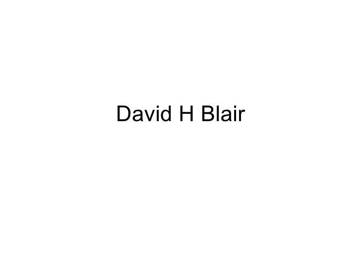David H Blair