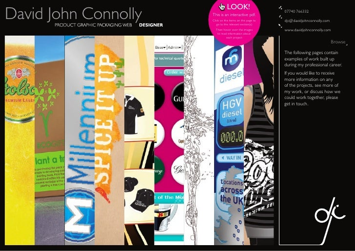 LOOK! David John Connolly   This is an interactive pdf.                       Click on the items on this page to          ...