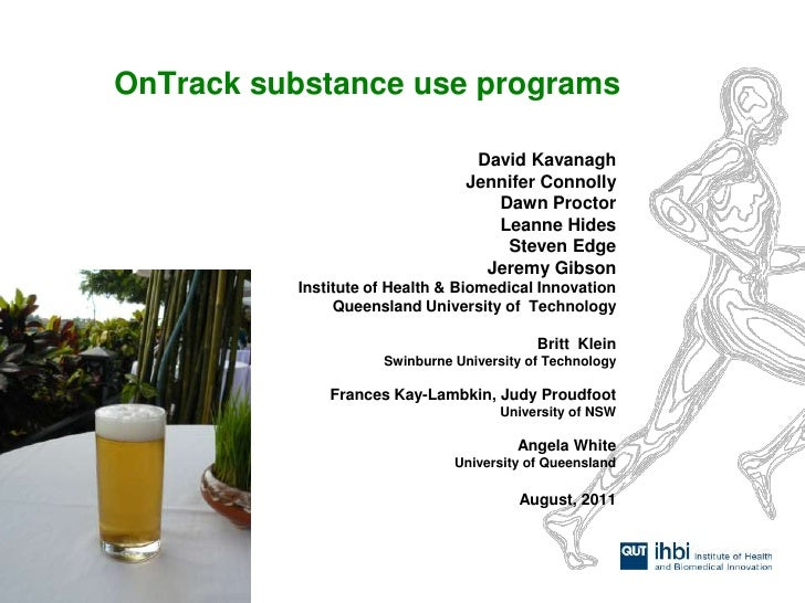 DrugInfo seminar: OnTrack internet and smart phone approaches to alcohol misuse