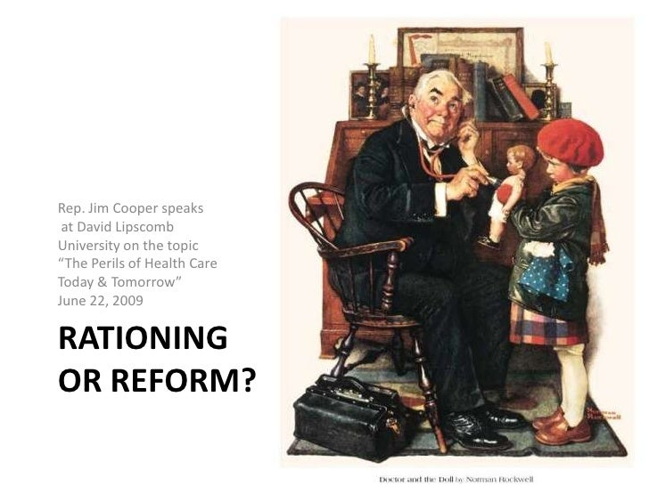 """Rationing or Reform?<br />Rep. Jim Cooper speaks<br /> at David Lipscomb <br />University on the topic<br />""""The Perils of..."""