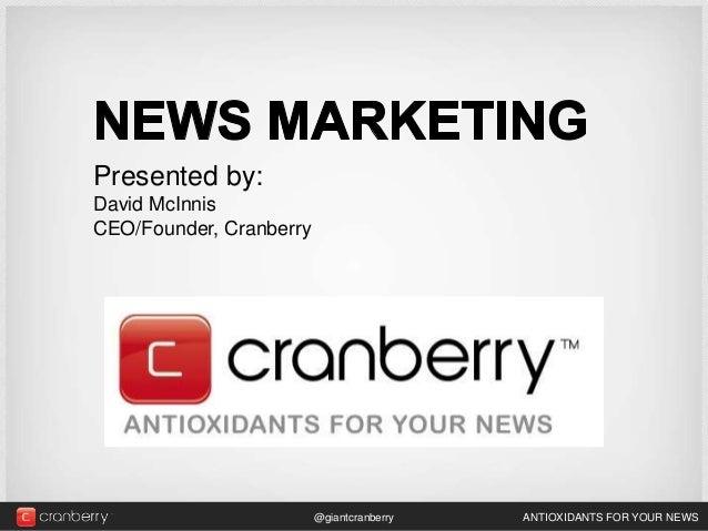 David McInnis - Cranberry-Newsmarketing