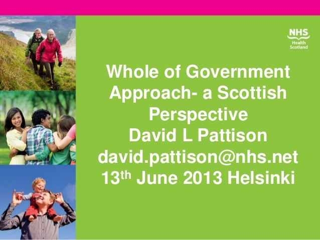 David Pattison, NHS Health Scotland, United Kingdom