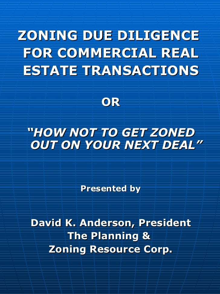 Zoning Due Diligence for Commercial Real Estate Transactions