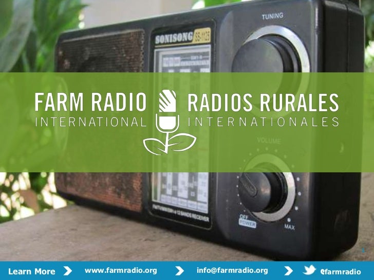 Mowbray - Farm Rural Radio Kenya -  2012 - 09- 17